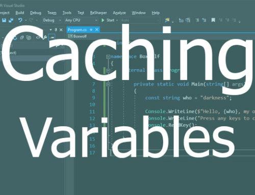 Optimize โปรแกรมง่ายๆ ด้วยการ cache ตัวแปร